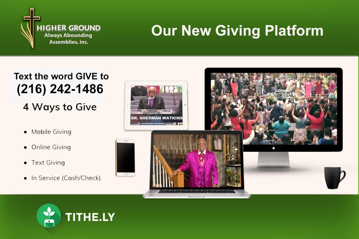 Our New Giving Platform